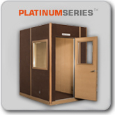 Double-Wall Design  Acoustic Fabric Wrapped Interior  Expandable  Solid Wood Door
