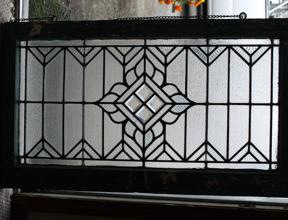 C. 1900 Leaded Beveled Window