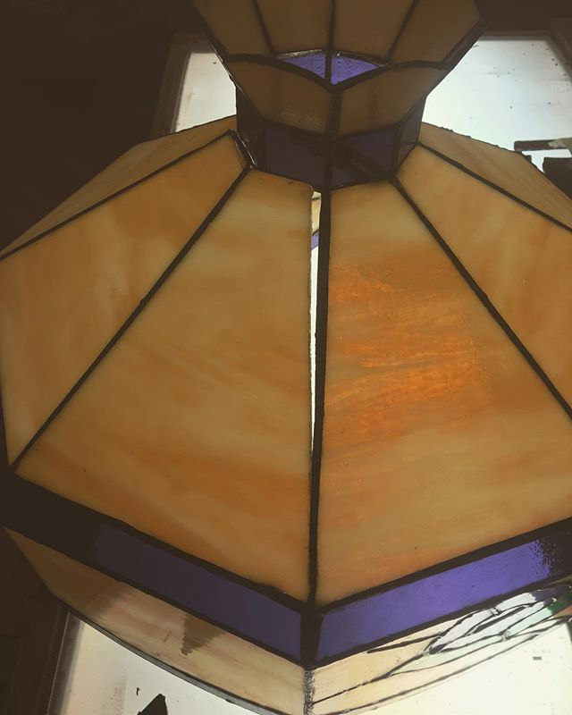 Vintage Lamp Repair. Before & After  #glassrepair
