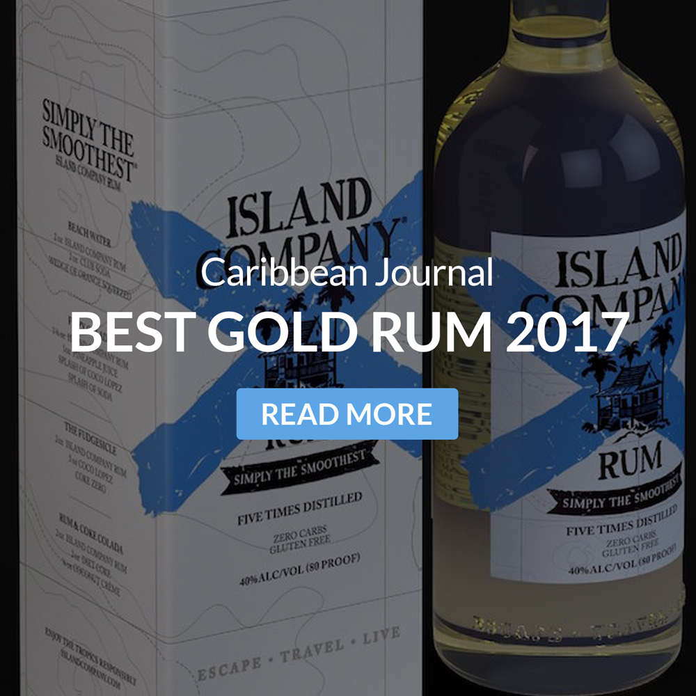 Caribbean Journal names Island Company Rum 'Best Gold Rum' for 2017.