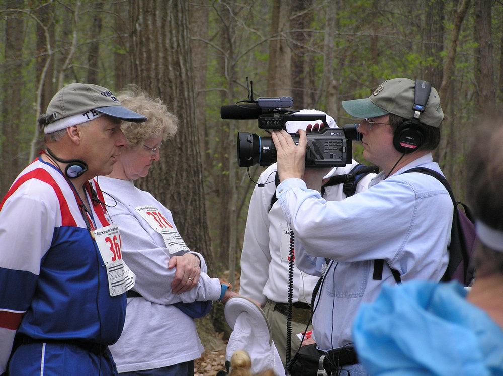 Gary shooting video for a ham documentary