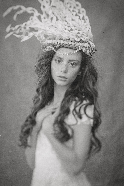 Marta-Hewson-Themed-portrait-4X5film-readhead-ornamental-headdress.jpg