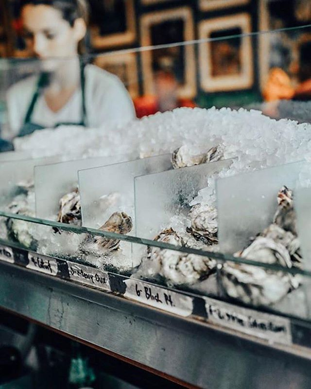 Fresh oysters are a must ...