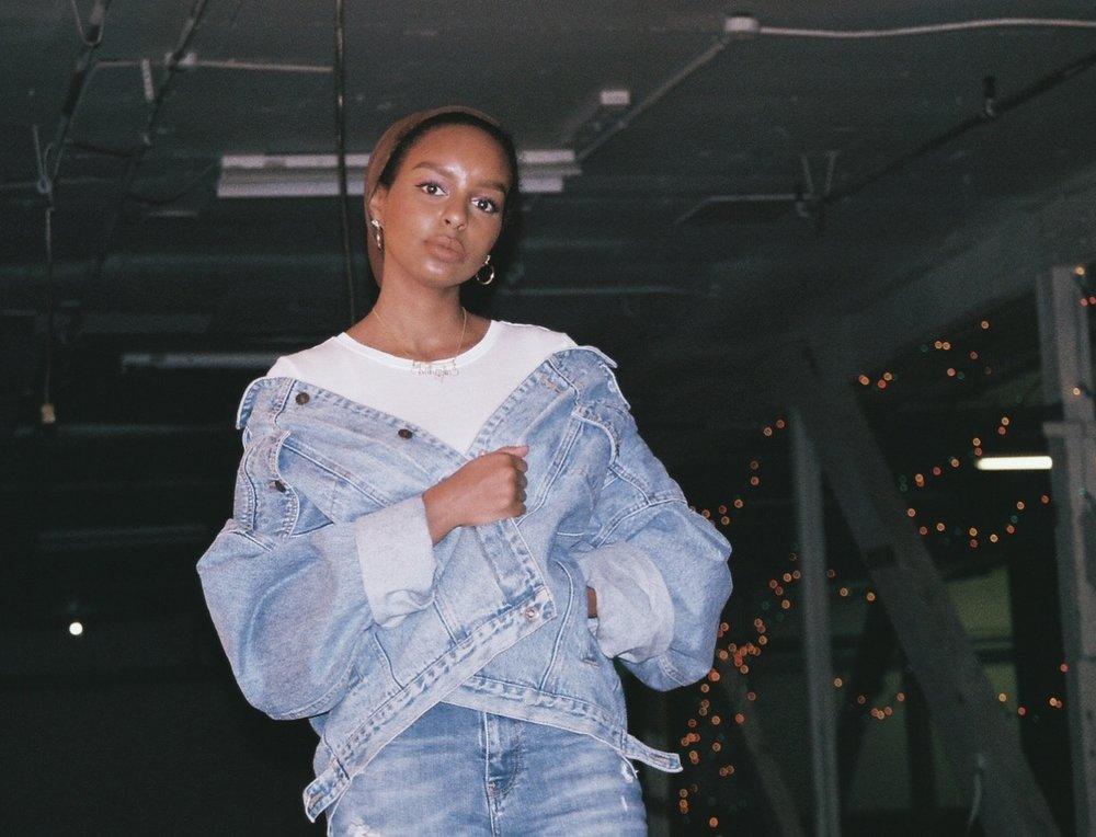 denim on denim fashion look