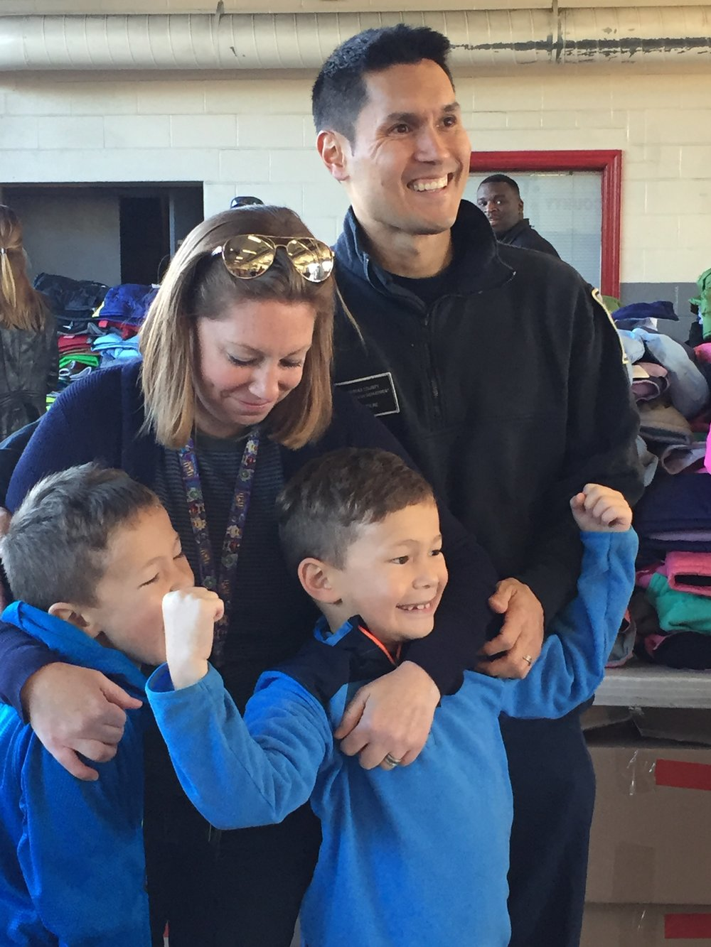 (Left to Right) My Family- Madden, Kelly, Maks and Ken Savittiere at the Coat Drive Oct. 2017