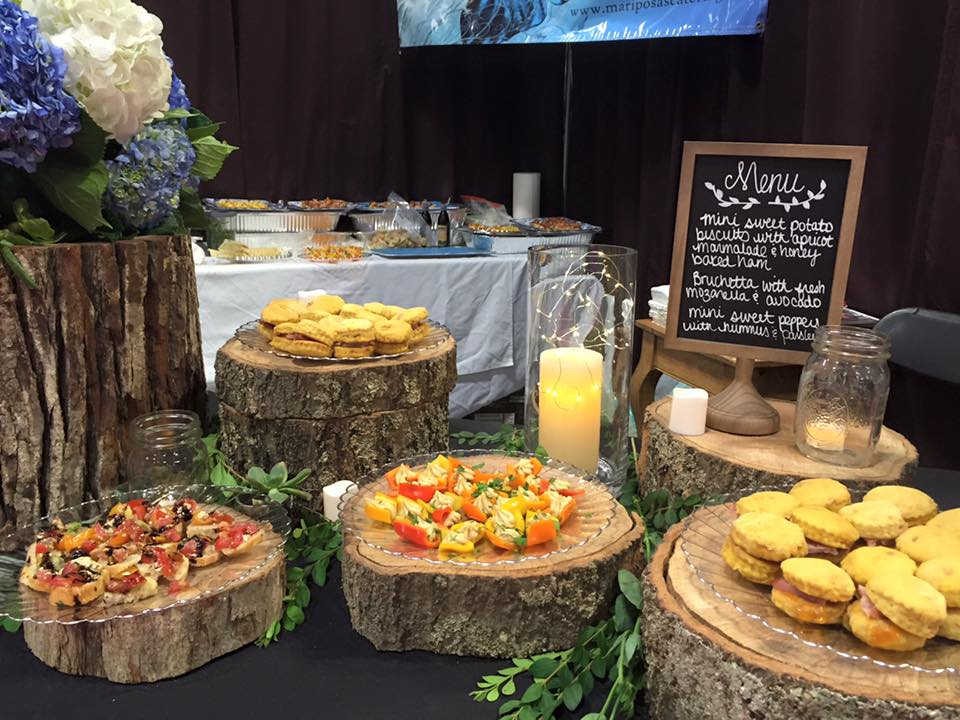 The Pink Bridal Show 2016 - Mini Bruschetta, Sweet Peppers w Hummus & Mini Sweet Potato Biscuits.jpg