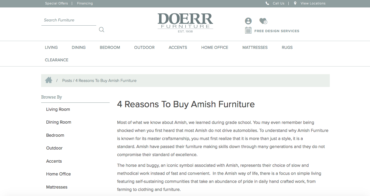 Doerr Furniture Blog Corbec Media