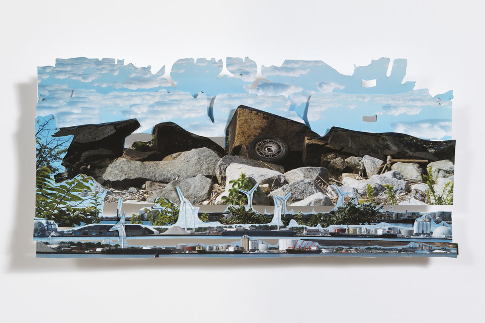 """collaged photographs, approximately 8 x 10"""""""