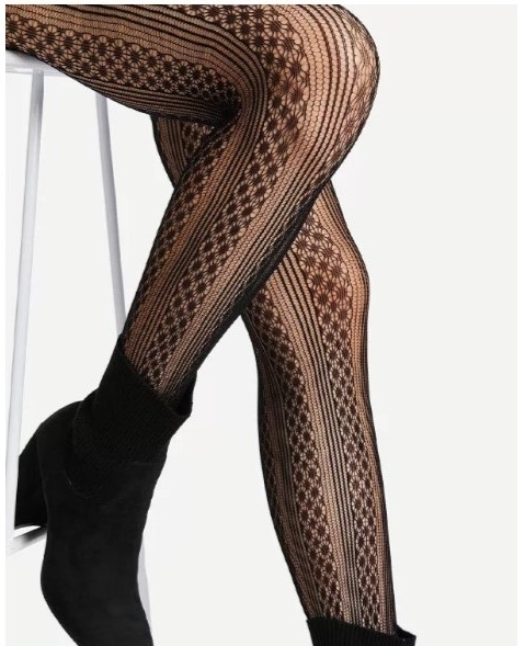 Geometric Pattern Tights