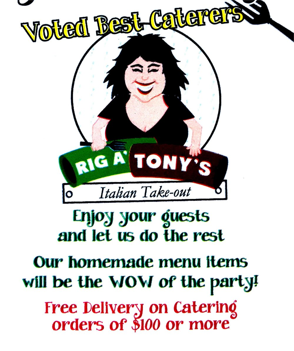 Welcome to Rigatonys Catering! - *PLEASE READ CAREFULLY AS SOME OF OUR MENU ITEMS HAVE CHANGED*