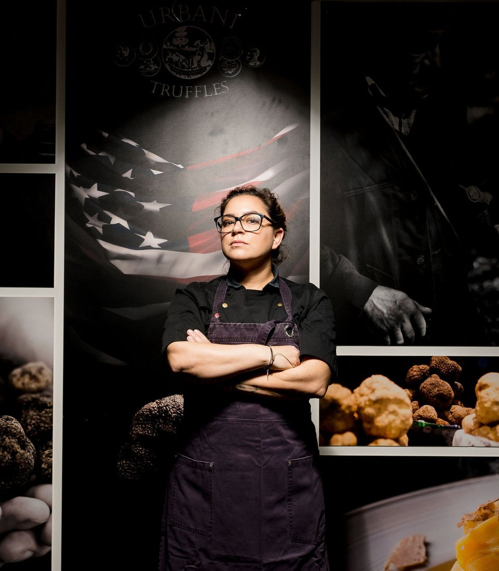 Leia Gaccione - Leia Gaccione's star has been rising in the food world for the past fifteen years, and she's not stopping anytime soon. A powerhouse of a chef and restaurateur with two of her own restaurants, Leia has worked her way through the restaurant industry. A graduate of the New York Restaurant School, Leia has worked in some of NYC's toughest kitchens. She worked as Executive Chef and Chef de Cuisine during a seven-year career in Bobby Flay's restaurant empire, cooking her way through five of the restaurants in his fine-dining portfolio. She now owns two hot New Jersey restaurants, south+pine and CENTRAL+MAIN, where she serves new American food that warms the belly and the soul.With her years in the restaurant industry and experience on many sides of the spectrum in the kitchen hierarchy, Leia brings remarkable knowledge and empathy to Her Name is Chef. Throughout the series, she interviews her fellow women chefs and they dish on everything from their favorite ingredients to sharing experiences working in a male-dominated and high-stress environment.