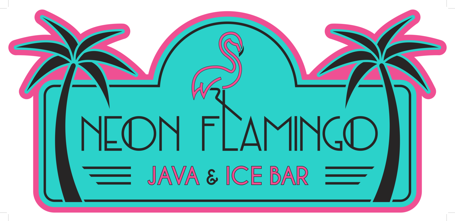 Neon Flamingo Java & Ice Bar