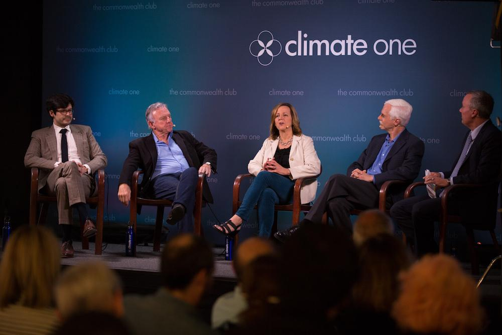 Wilford on a Climate One panel, Commonwealth Club of California.
