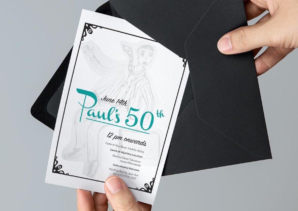 Rachael carroll designs invitation a freelance invitation design job inspired by the 1940s stopboris Gallery
