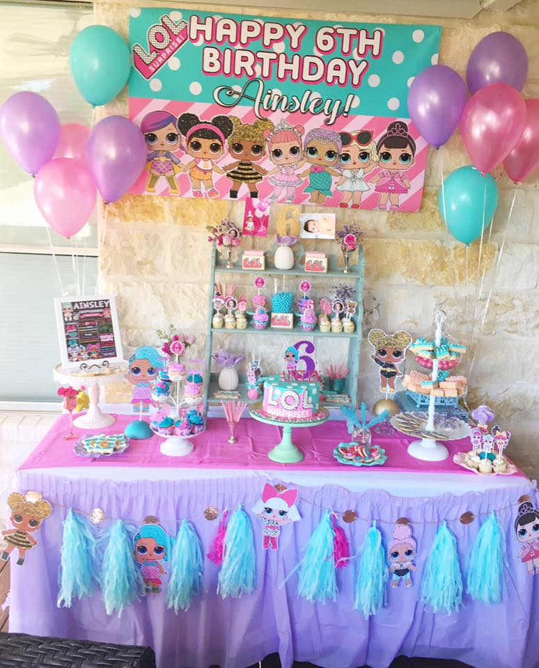 LOL Birthday Party A Fun Doll Theme For Sweet 6 Year Old