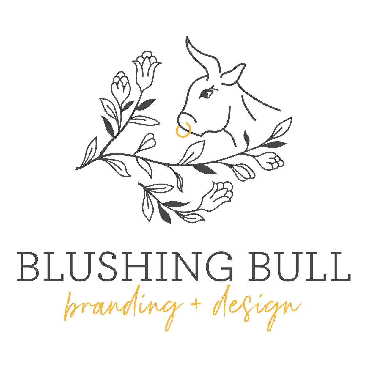 Blushing Bull - Boutique Branding and Graphic Design in Olympia, Washington & Beyond