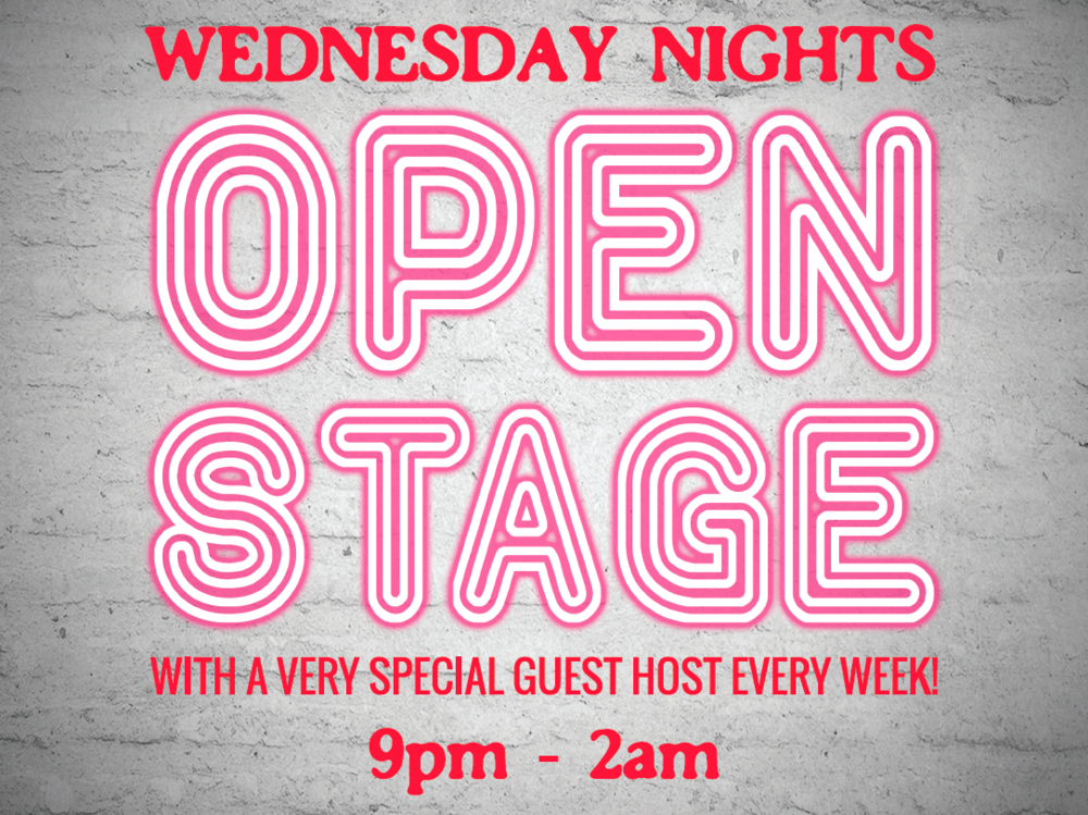 "OPEN STAGE!   Wing Wednesday   With River City Revival House being located in the ""underbelly"" The Starlite Room (live music venue) we are overwhelmed with the support from the community for our open stage nights! There were so many amazing, talented musicians who honoured us by playing!  Open Stage Night is every Wednesday evening! Each week our Open Stage will be hosted by a different musician. If you would like to preform please let our host know, after preforming you will receive a coupon for a pre-paid drink. Nightly specials include Wings for $5 a pound, $5.25 Big Rock Pints!   Click on the above image to view our Open Stage Facebook Group!"