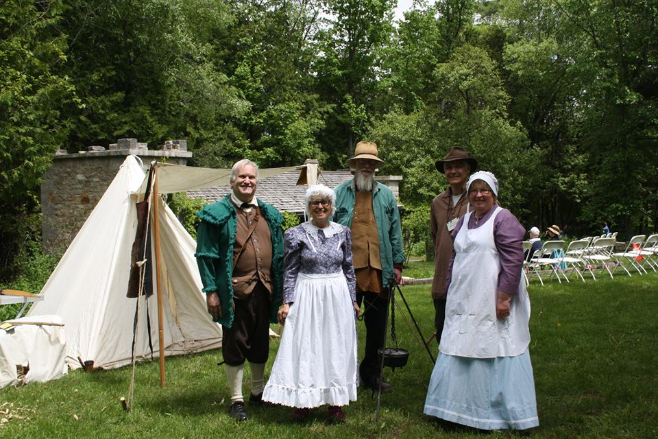 Reenactments/crafters  at Mill of Kintail event.