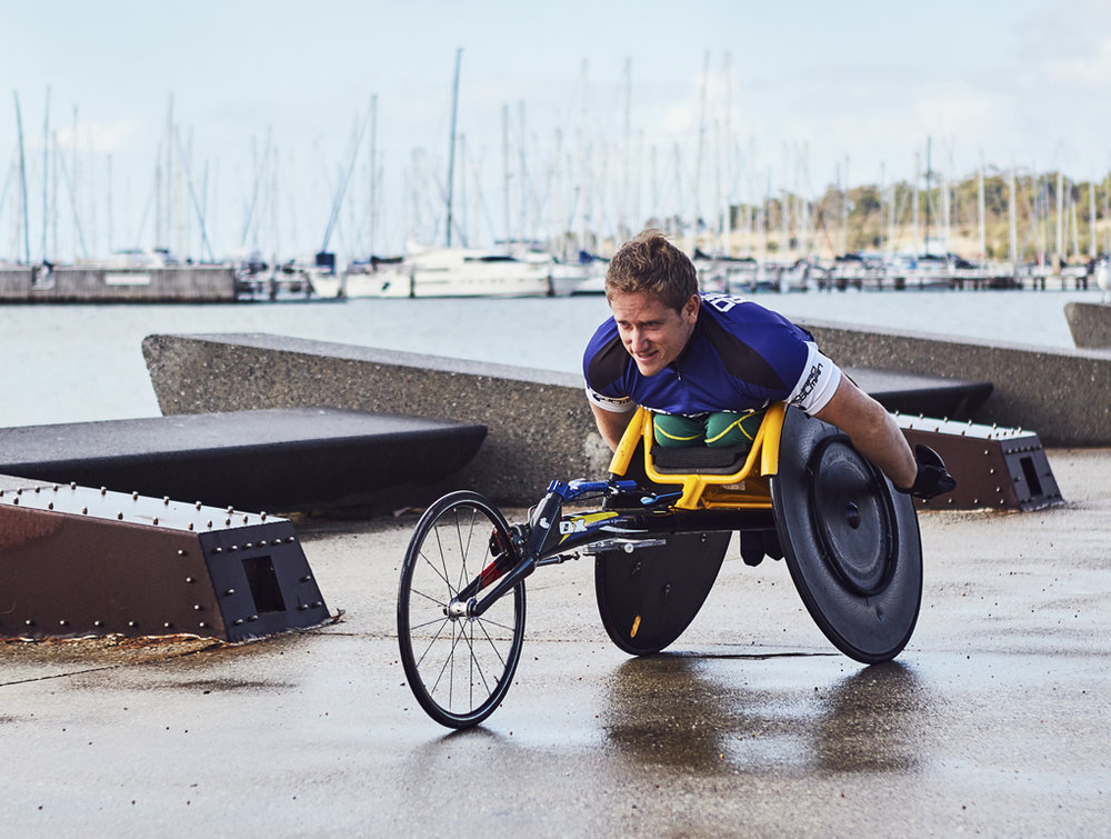 "Richard Colman AM  World and Paralympic Champion  Richard is a world champion and Paralympic athlete. He also plays wheelchair basketball in the local Geelong league and enjoys regular swimming as part of his cross training. Away from the track Richard has completed a Bachelor of Commerce at Deakin University.  Richard also coaches and mentors new and developing athletes to help them achieve their dreams.   ""Sport has been life changing for me and has provided so many life skills enabling me to be successful. Around 80% of people with a disability don't reach the recommended amount of physical activity. We have a huge challenge and opportunity to get people active with Active Geelong."""
