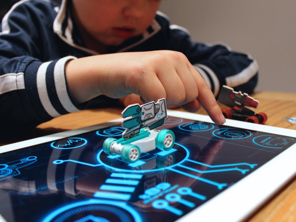 Clarks Jack Nano Battle Cars mobile app phygital