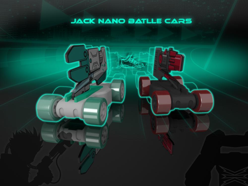 Clarks Jack Nano Battle Cars logo