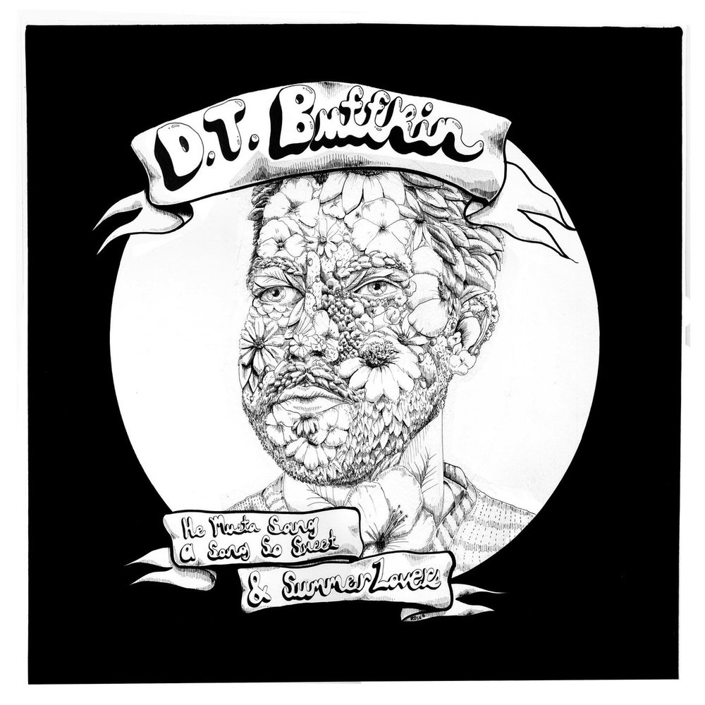 "Cover of D.T. Buffkins split 7"", which he shared with Garrett T Capps."