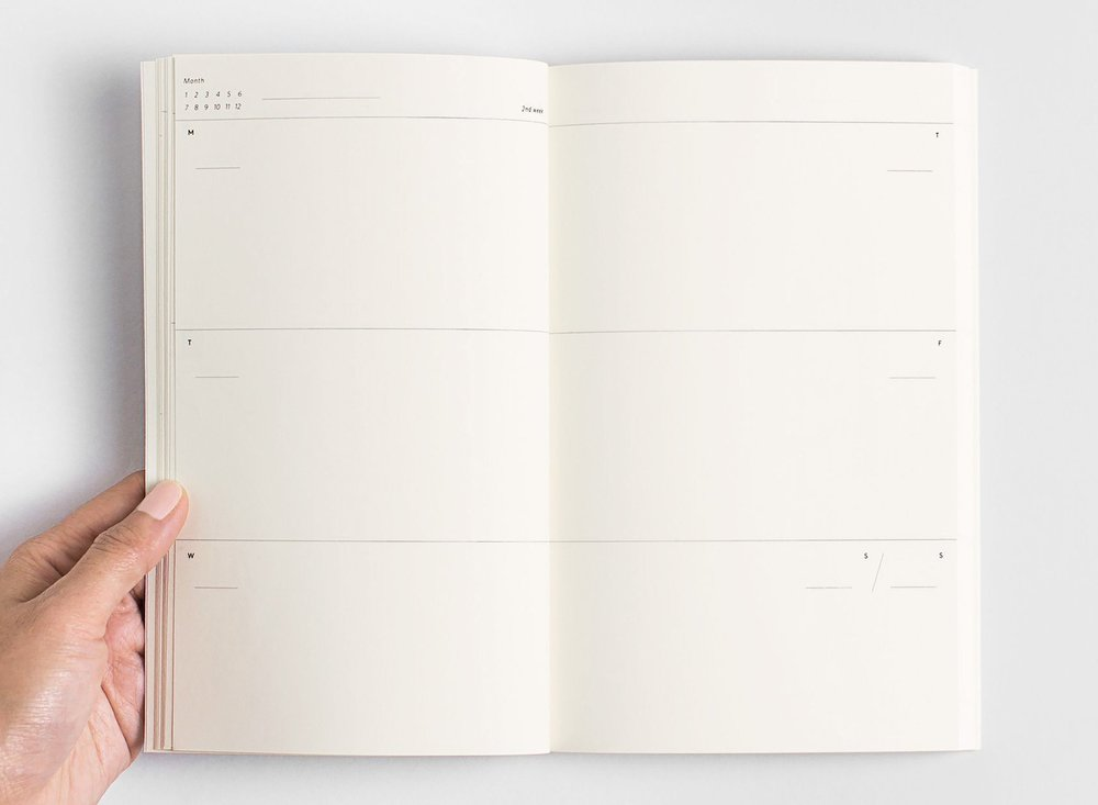 The Original Any-Year Unruled Planner, by Julia Kostreva