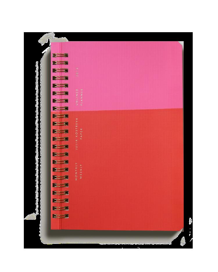 Blank/Unruled Weekly Planner, Julia Kostreva