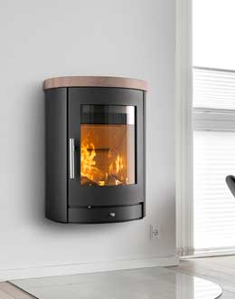 Wallhanging stoves