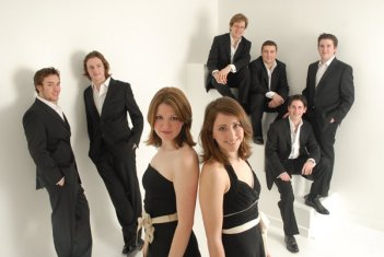An early VOCES8 line up! - Formed in 2005, VOCES8 came up with the name en route to a competition.