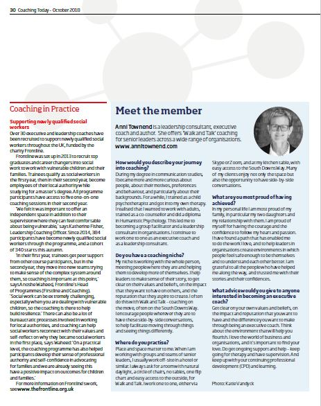 This article appeared in the October 2018 issue of Coaching Today, which is published by the British Association for Counselling and Psychotherapy (c) BACP.  https://www.bacp.co.uk/bacp-journals/coaching-today/