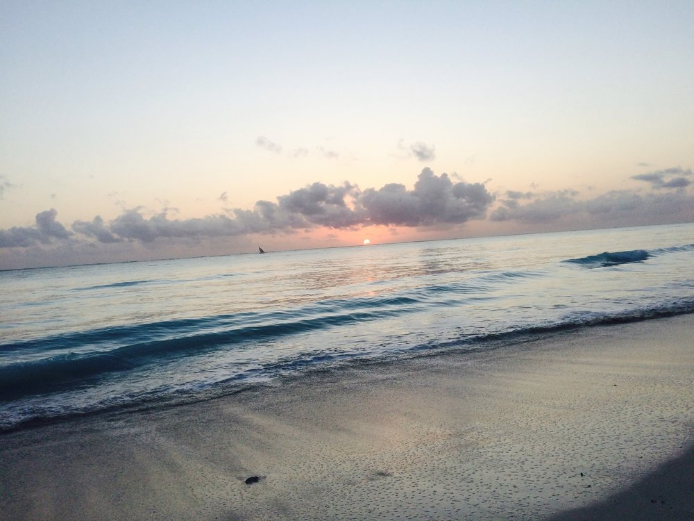 To wake up, with the rising sun on an empty beach is to truly embrace your solitude.