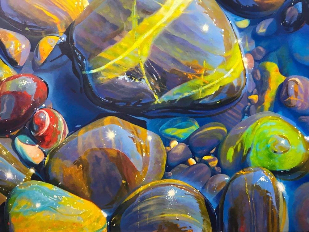 Skimming stones SOLD 100cm x 70cm pebbles