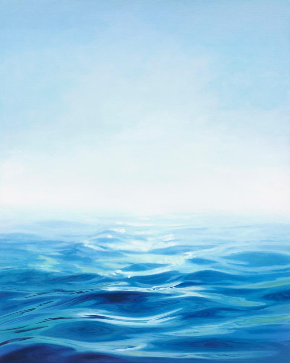 Blue haze 80cm x 100cm SOLD ocean painting
