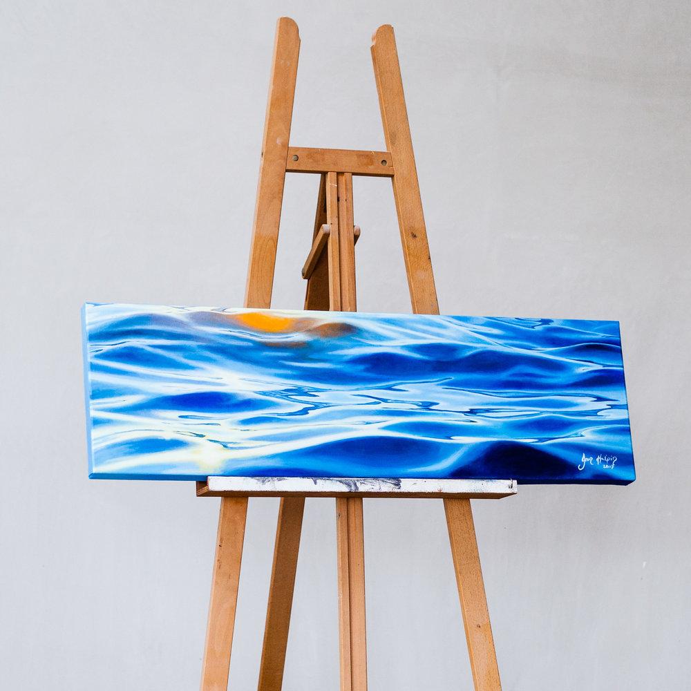 The journey begins Sold. ocean painting