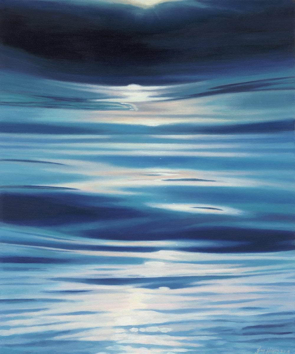 Luna 50cm x 60cm SOLD moonlight painting