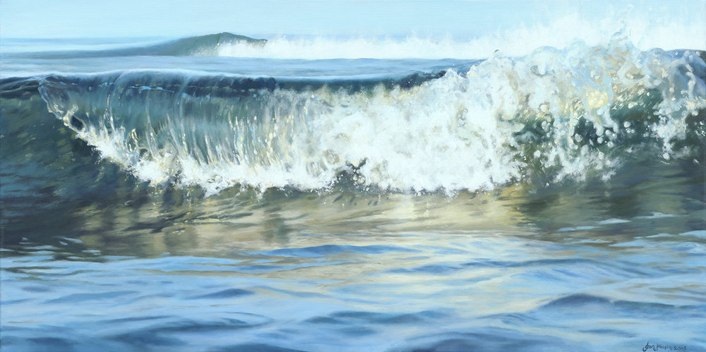 Energise SOLD 100cm x 50cm  SOLD ocean wave
