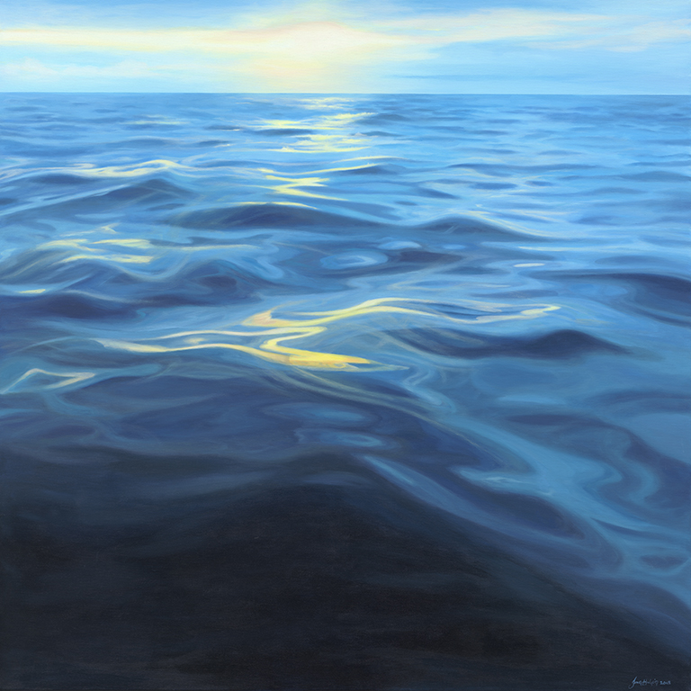 Take a breath €1,950 100cm x 100cm ocean painting