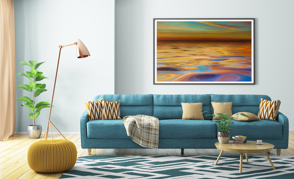 Summer Sun SOLD 150cm x 100cm sunset seascape