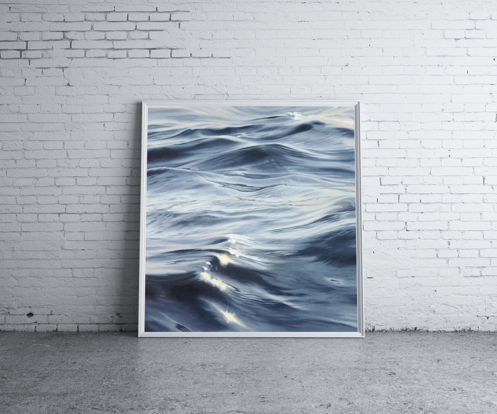 Dark Ocean €1,800 80cm x 80cm Original art