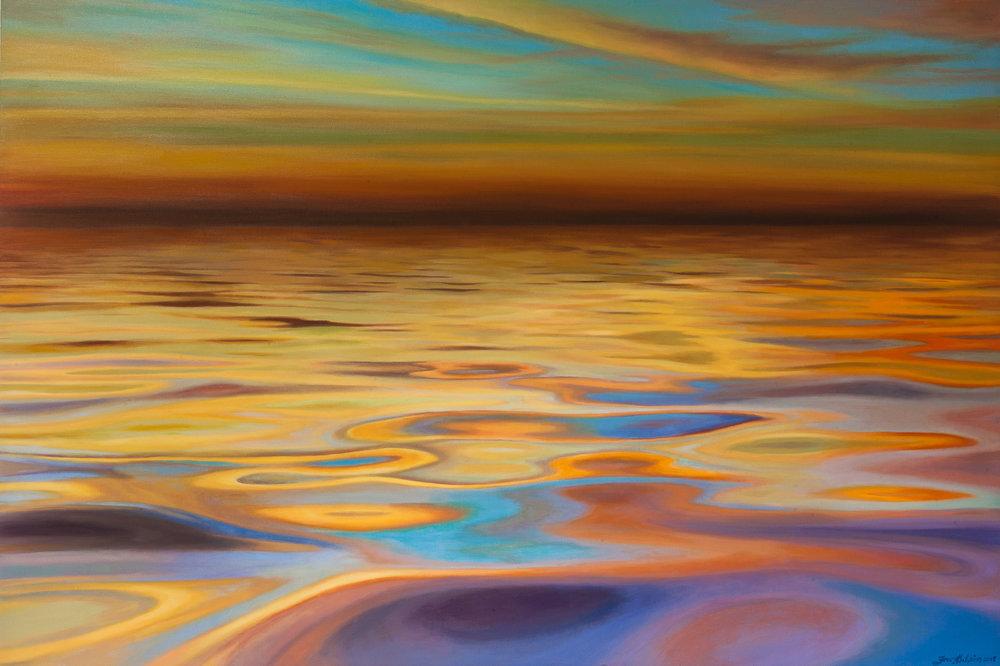 Summer Sun SOLD 150cm x 100cm sunset