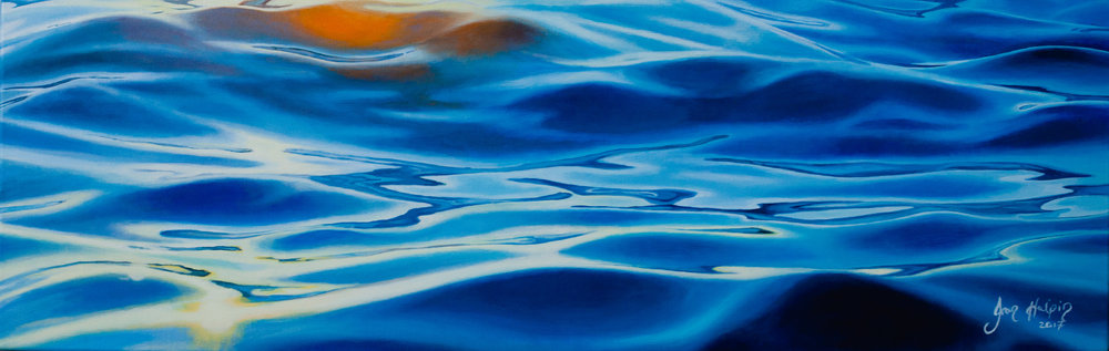 The journey begins 30cm x 100cm SOLD The ocean