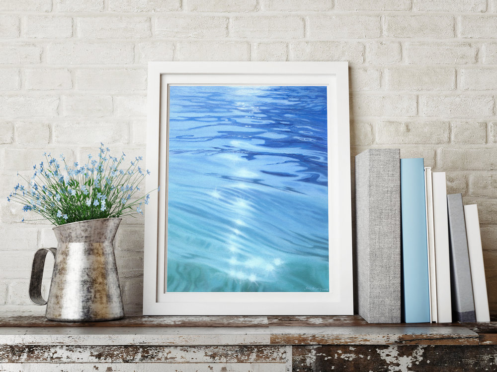 Serenity €600 40cm x 50cm the ocean
