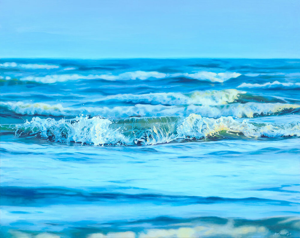 A moment of calm SOLD 100cm x 80cm seascape