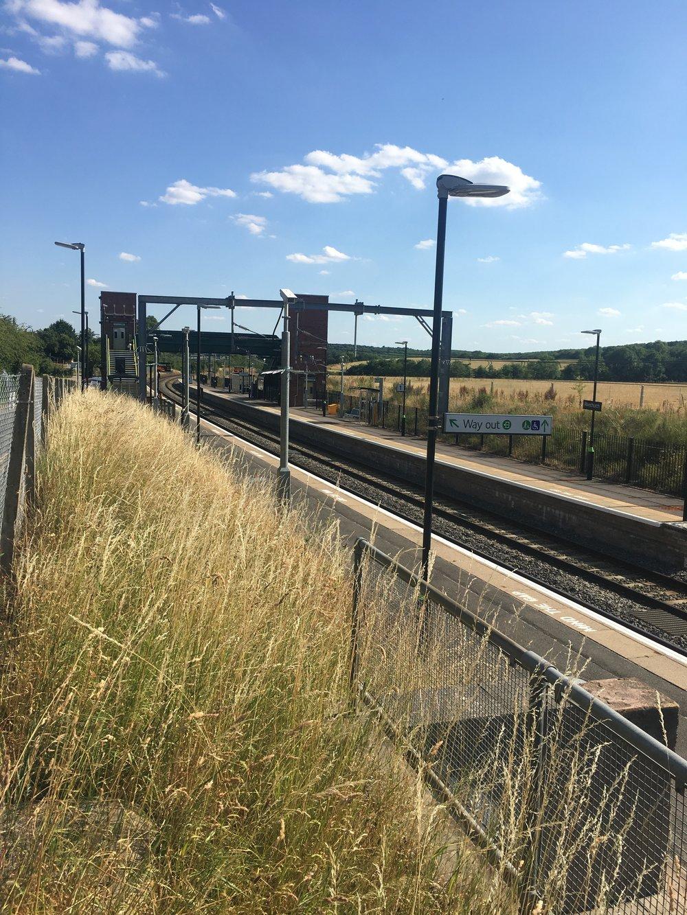Arrive at Alvechurch Station -