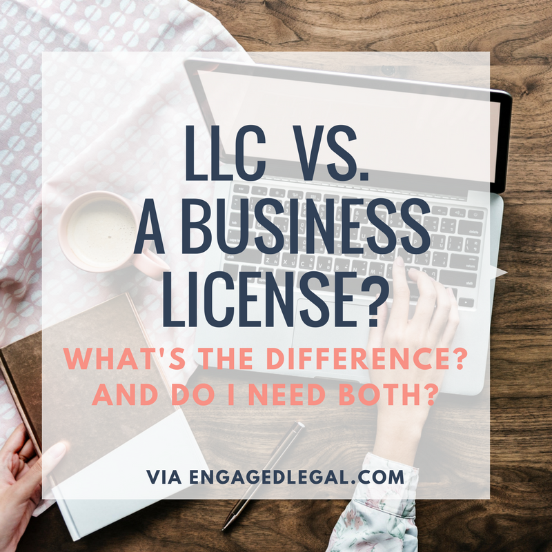llc vs business license