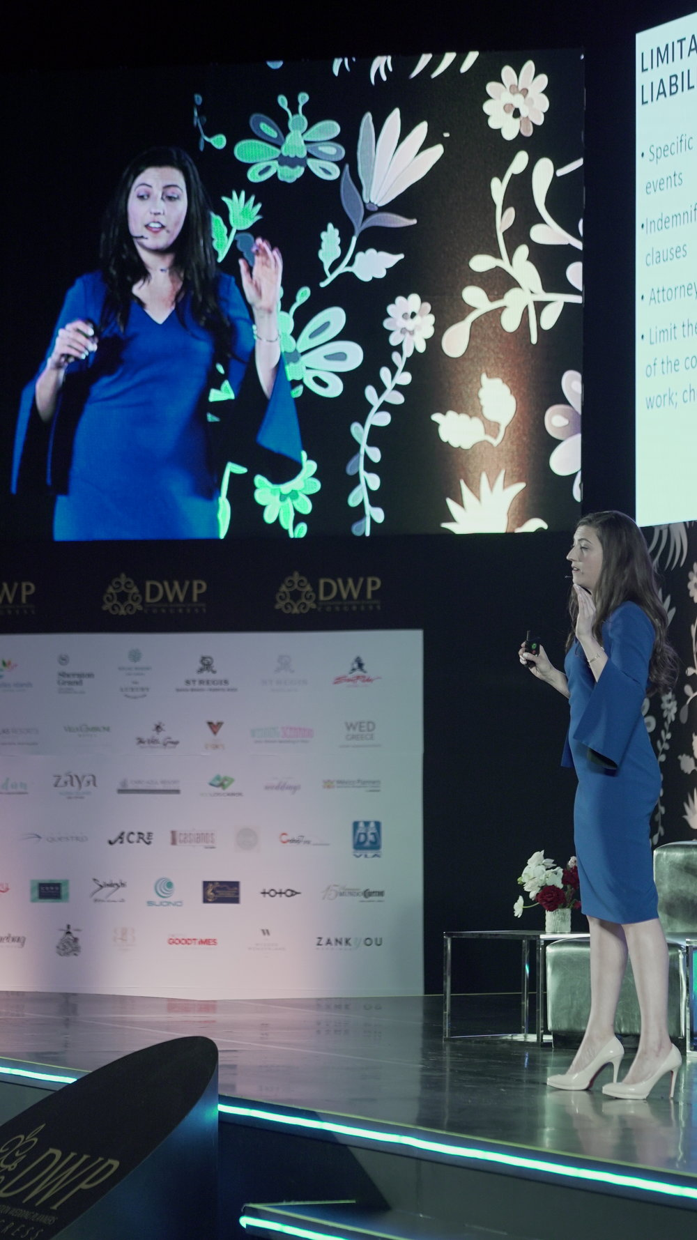 Me gabbing away about contracts in Mexico at the Destination Wedding Planner's conference.