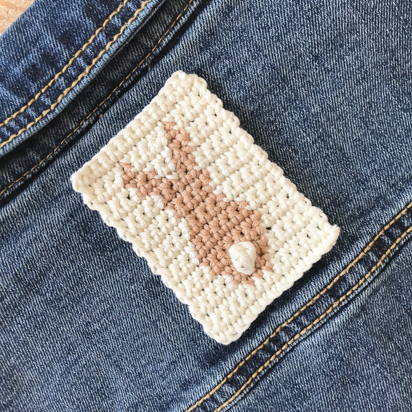 I used this motif to sew as a patch onto a denim jacket.