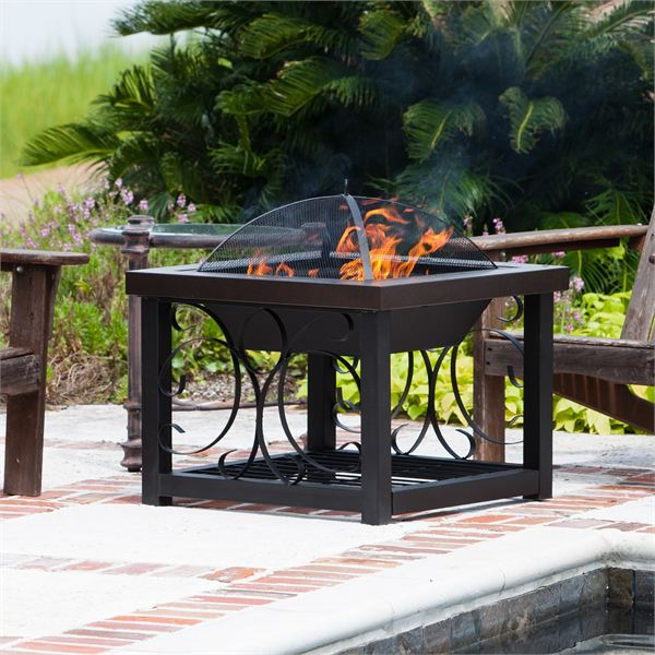 firesense bronze table fire pit