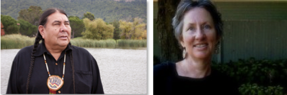 Tom Goldtooth and Carolyn Raffensperger